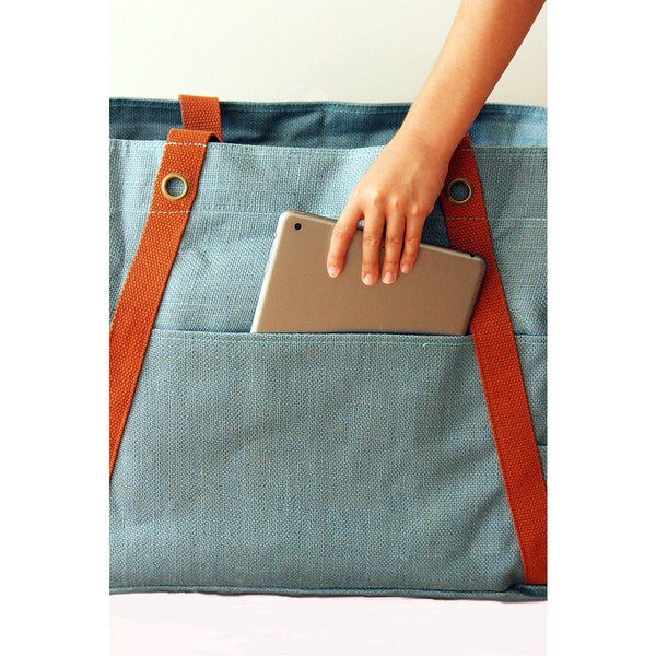 Blue Lifestyle bag/ Beach bag/ Weekender - Ideo Moji - Christmas Gifts - Cadeaux Noel - The best Swiss online department store!