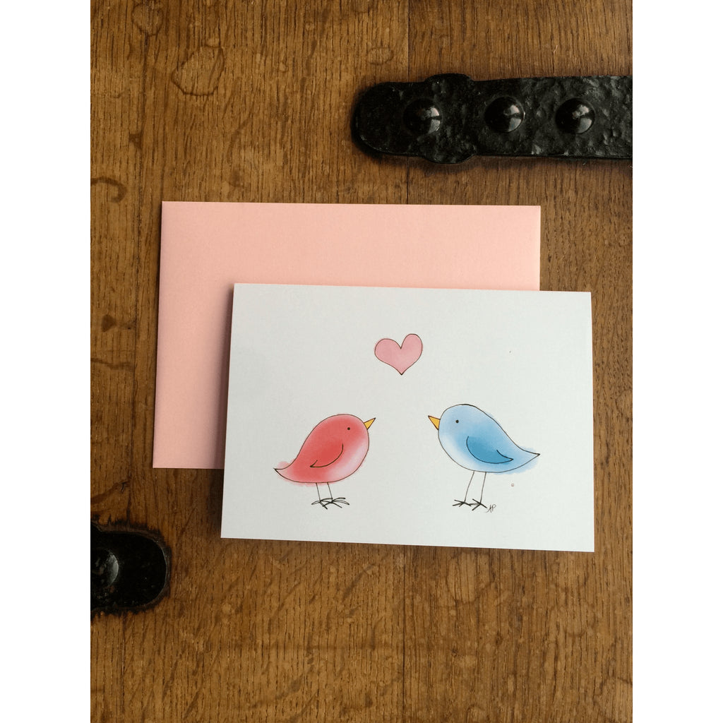Love and Valentine's Card - Love Birds - Little Red Fox Designs - Free delivery - Gifts - The best Swiss online department store!
