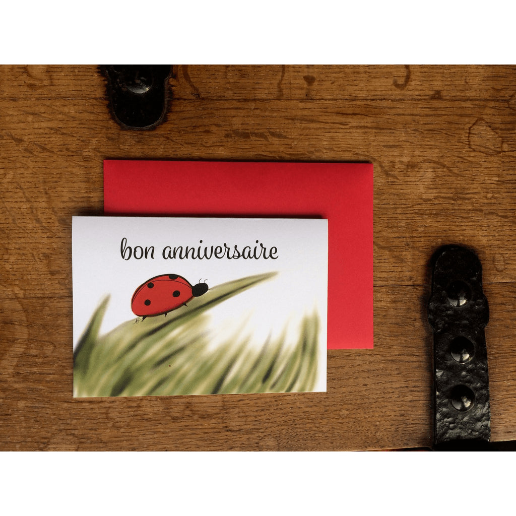 Ladybug Birthday Card - Little Red Fox Designs - Christmas Gifts - Cadeaux Noel - The best Swiss online department store!