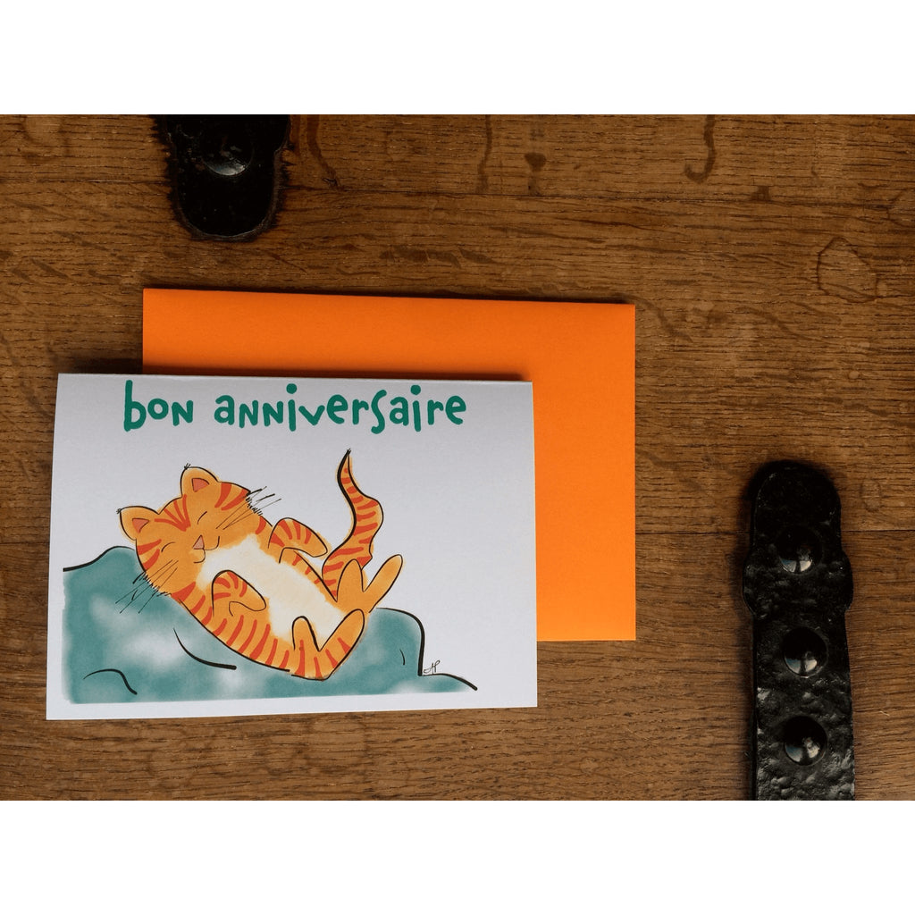 Orange Kitten Birthday Card - Little Red Fox Designs - Christmas Gifts - Cadeaux Noel - The best Swiss online department store!