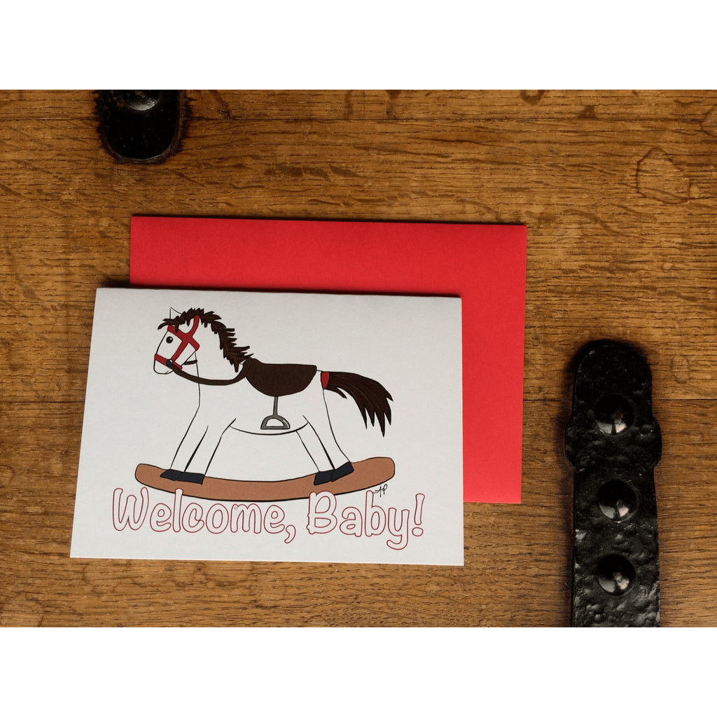Rocking Horse Card for Baby - Little Red Fox Designs - Christmas Gifts - Cadeaux Noel - The best Swiss online department store!