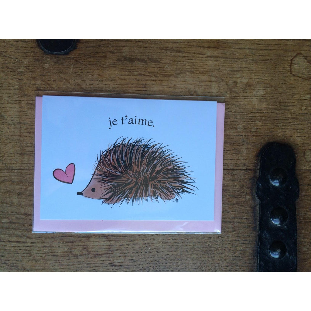 Je t'aime Hedgehog Card - Little Red Fox Designs - Christmas Gifts - Cadeaux Noel - The best Swiss online department store!