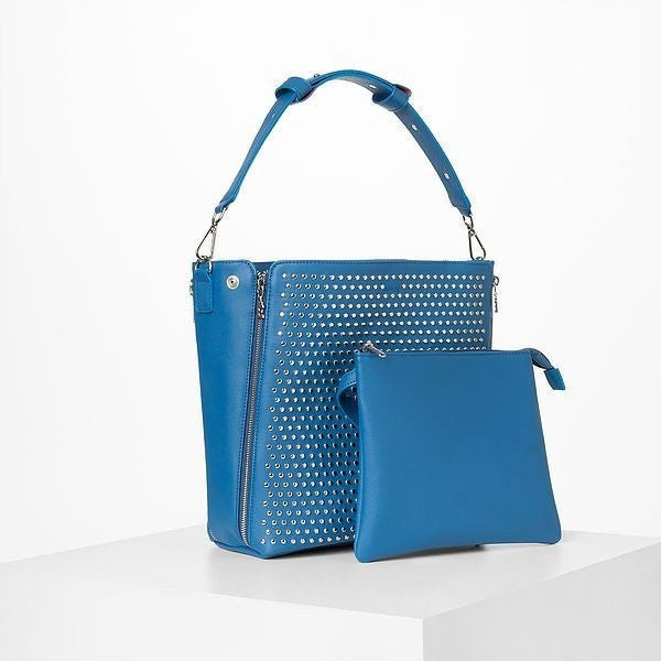 STUDS Shoulder Vegan Leather Bag by MAËL - JAANTE - Christmas Gifts - Cadeaux Noel - The best Swiss online department store!