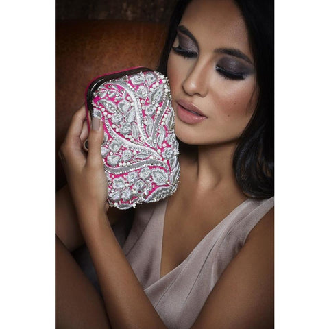 Pink Floral Clutch - JAANTE - Christmas Gifts - Cadeaux Noel - The best Swiss online department store!