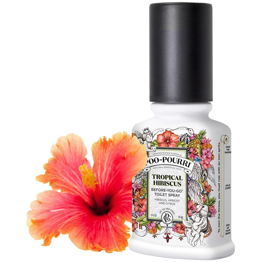 TROPICAL HIBISCUS Toilet Spray | Before-You-Go Toilet Spray | Spray per il bagno e la Toilette - Poo~Pourri Before-You-Go Toilet Spray - Christmas Gifts - Cadeaux Noel - The best Swiss online department store!