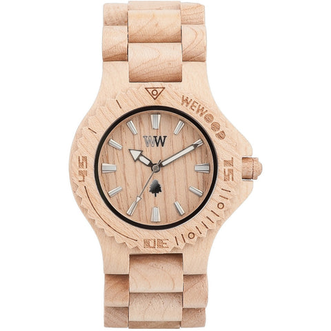 Wooden Watch WeWood - Date Beige - WeWood Swiss - Christmas Gifts - Cadeaux Noel - The best Swiss online department store!