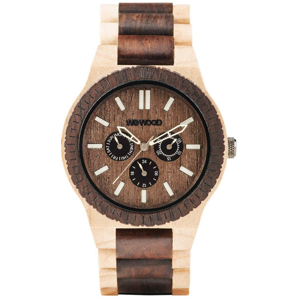 Wooden Watch WeWood - Kappa Choco Crema - WeWood Swiss - Christmas Gifts - Cadeaux Noel - The best Swiss online department store!