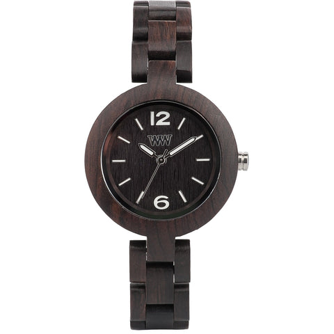 Wooden Watch WeWood - Mimosa black - WeWood Swiss - Christmas Gifts - Cadeaux Noel - The best Swiss online department store!
