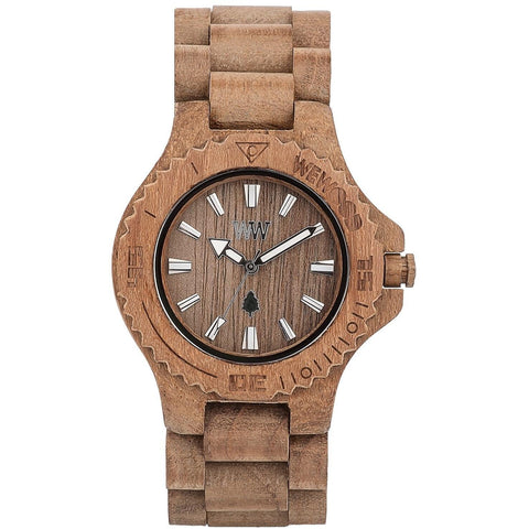 Wooden Watch WeWood - Date Teak - WeWood Swiss - Christmas Gifts - Cadeaux Noel - The best Swiss online department store!