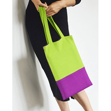 Purple / Green Tote Bag - Sustainable Design - Chiinchiin - Christmas Gifts - Cadeaux Noel - The best Swiss online department store!