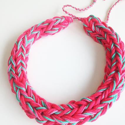 Watermelon Knit Necklace - Chiinchiin - Christmas Gifts - Cadeaux Noel - The best Swiss online department store!