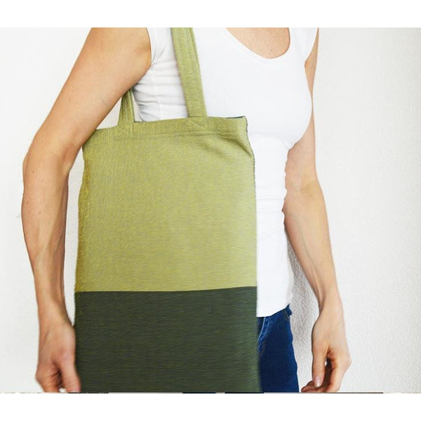 Double Green Tote Bag - Sustainable Design - Chiinchiin - Christmas Gifts - Cadeaux Noel - The best Swiss online department store!