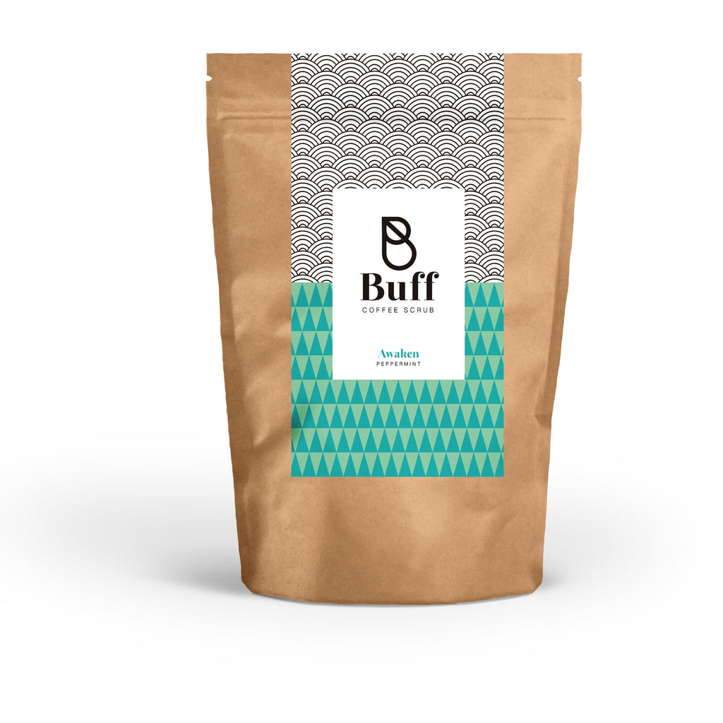 BUFF AWAKEN PEPPERMINT - Natural coffee-based body scrub - Buff Scrub - Free delivery - Gifts - The best Swiss online department store!