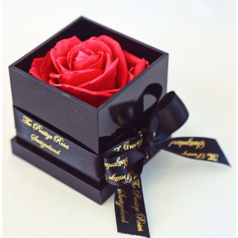 The Prestige Roses Red Acrilic Box - The Prestige Roses Switzerland Akryl Boxen - Christmas Gifts - Cadeaux Noel - The best Swiss online department store!