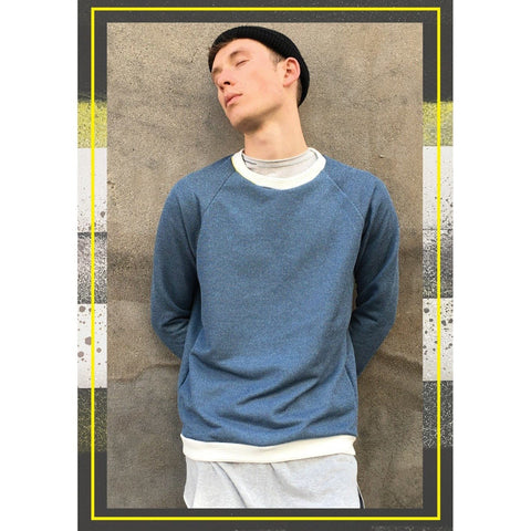 "Light blue, Men's Jumper, Men's Sweatshirt, ""Blue Jeans Jumper"" - U/C by Eliran Ashraf - Christmas Gifts - Cadeaux Noel - The best Swiss online department store!"
