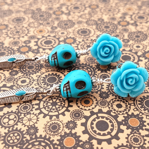 Dangle Plugs Blue Sky for Stretched Ears - Glamasaurus - Christmas Gifts - Cadeaux Noel - The best Swiss online department store!
