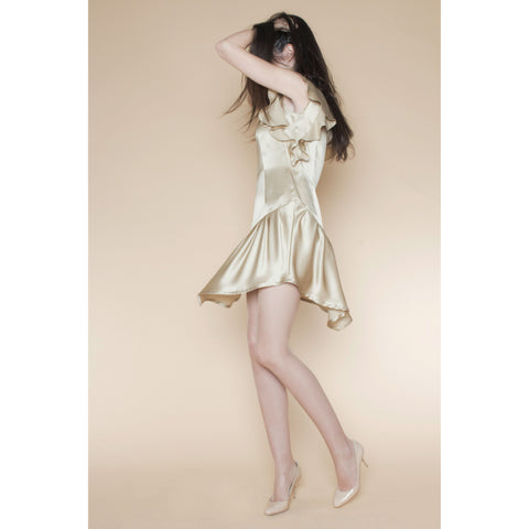 Asymmetrical Cocktail Dress with Ruffles - LIKOV - Christmas Gifts - Cadeaux Noel - The best Swiss online department store!