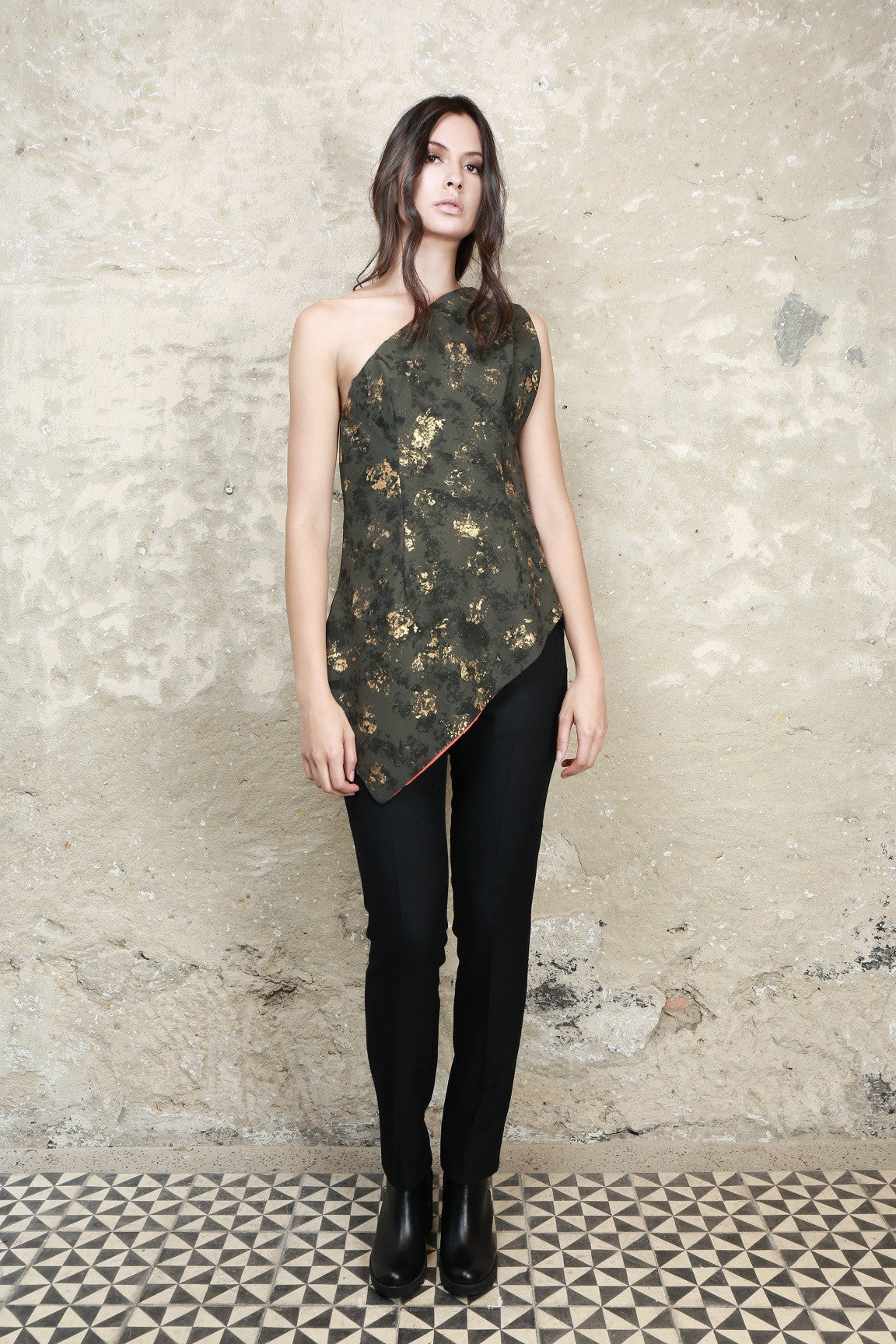 Sustainable Fashion Assymetrical Top