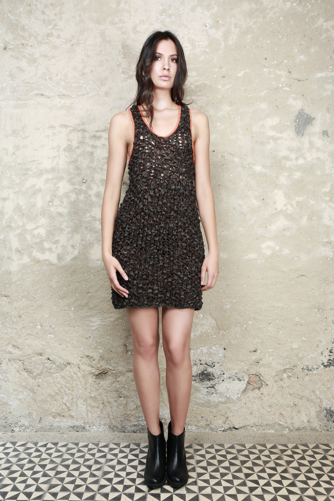 Sustainable Fashion Hand Knitted Short Dress