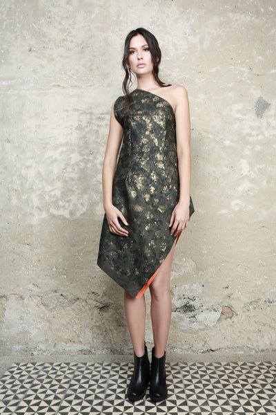 Sustainable Fashion Assymetrical Short Dress