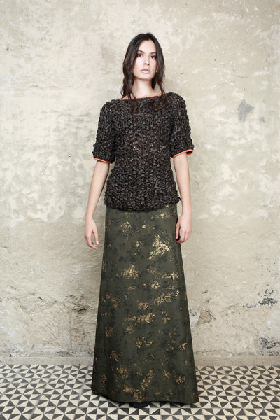 Sustainable Fashion Recycled Hand Painted Skirt