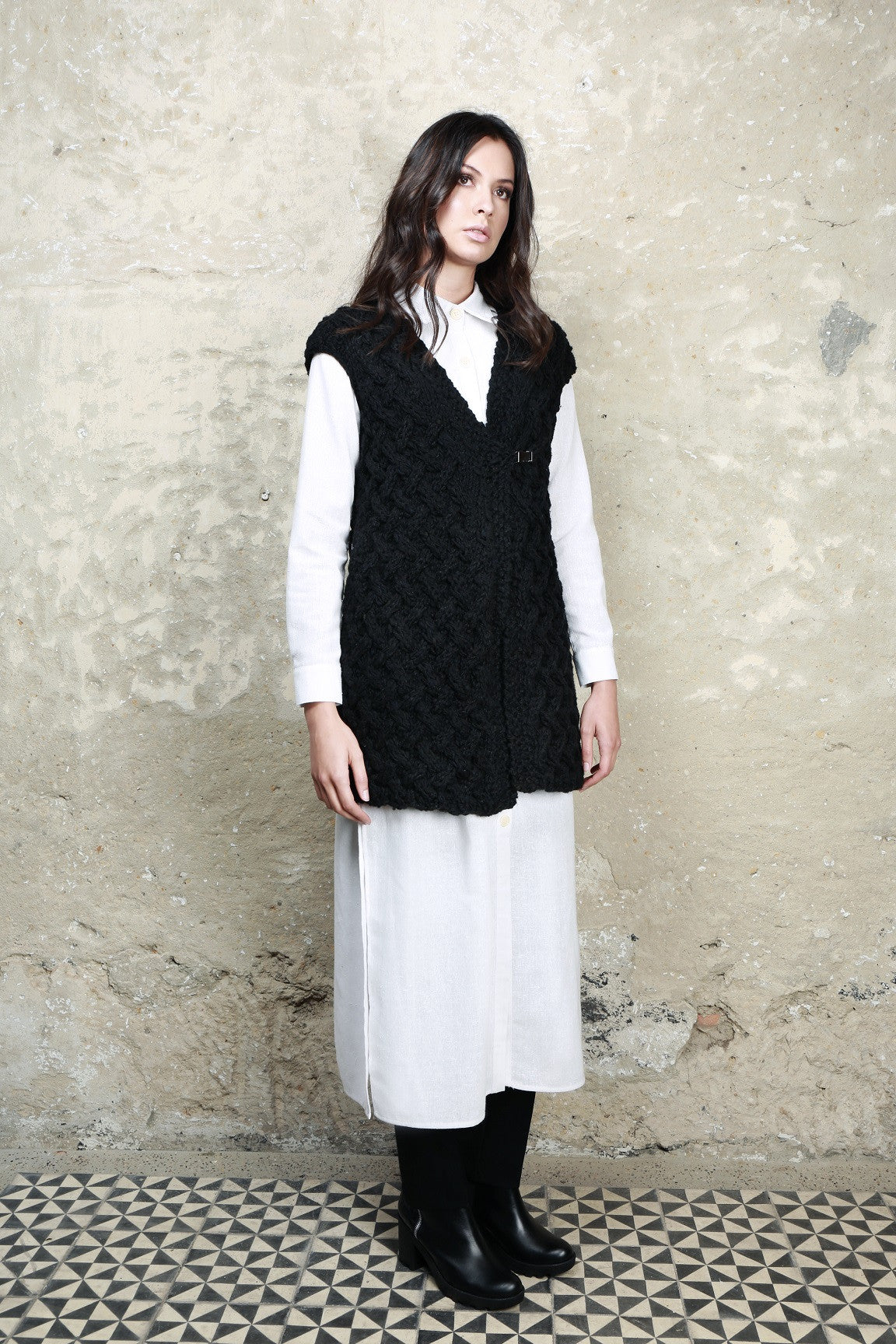 Sustainable Fashion Artisan Made Wool Vest