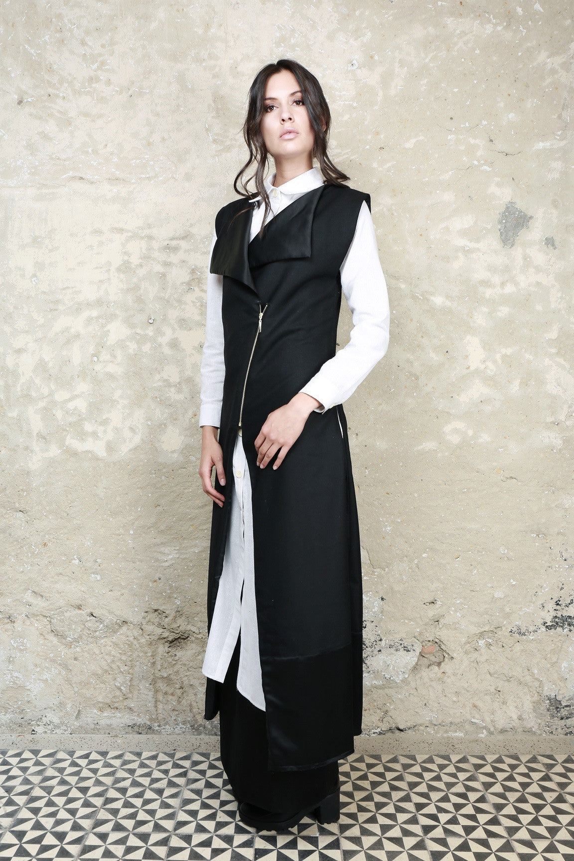 Sustainable Fashion Zero Waste Long Vest