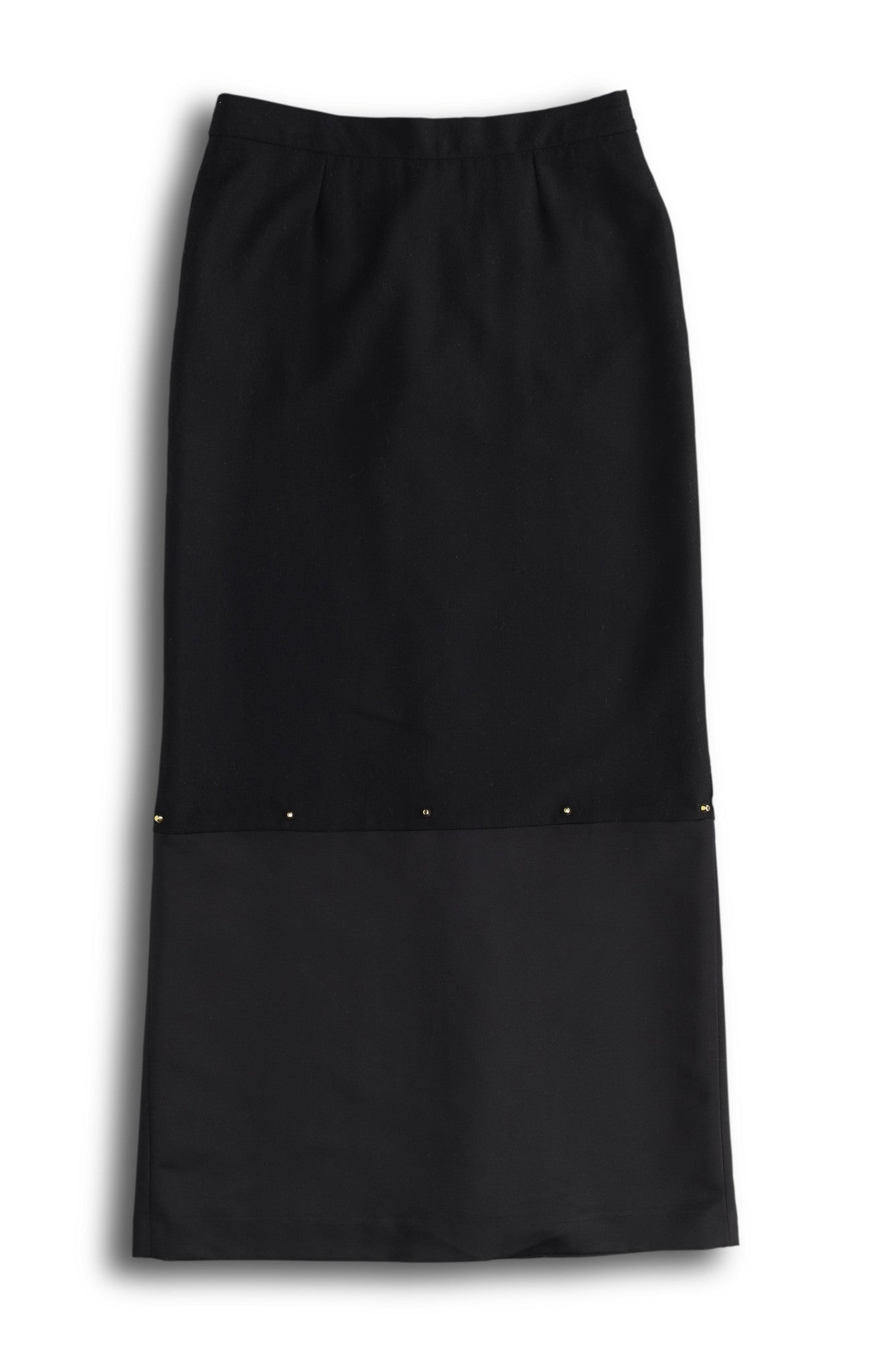 Sustainable Fashion Black Wool Skirt