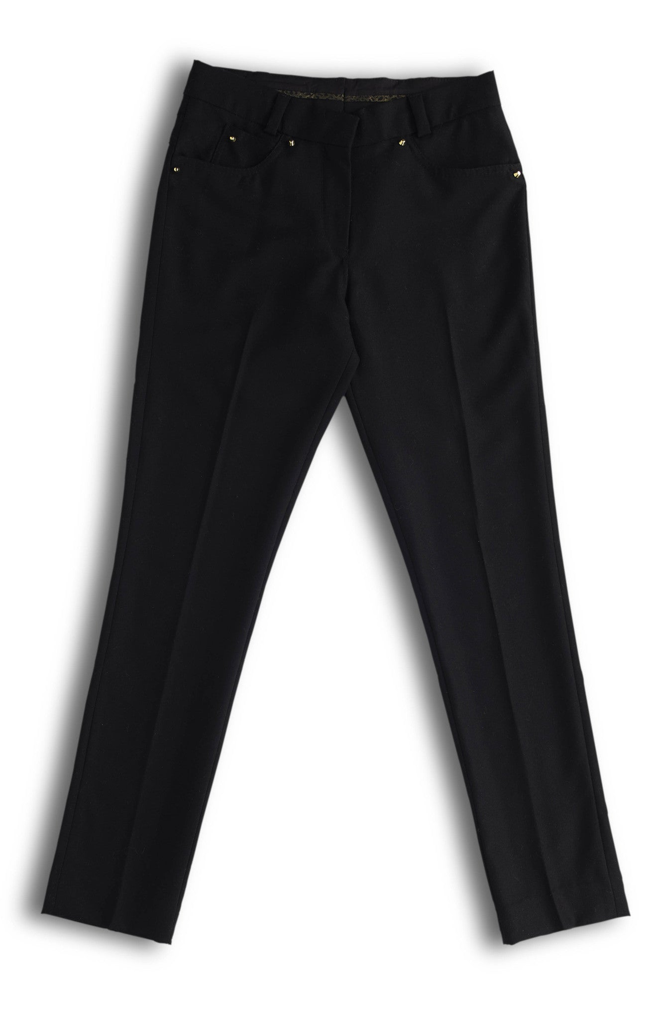 Sustainable Fashion Black Wool Trousers