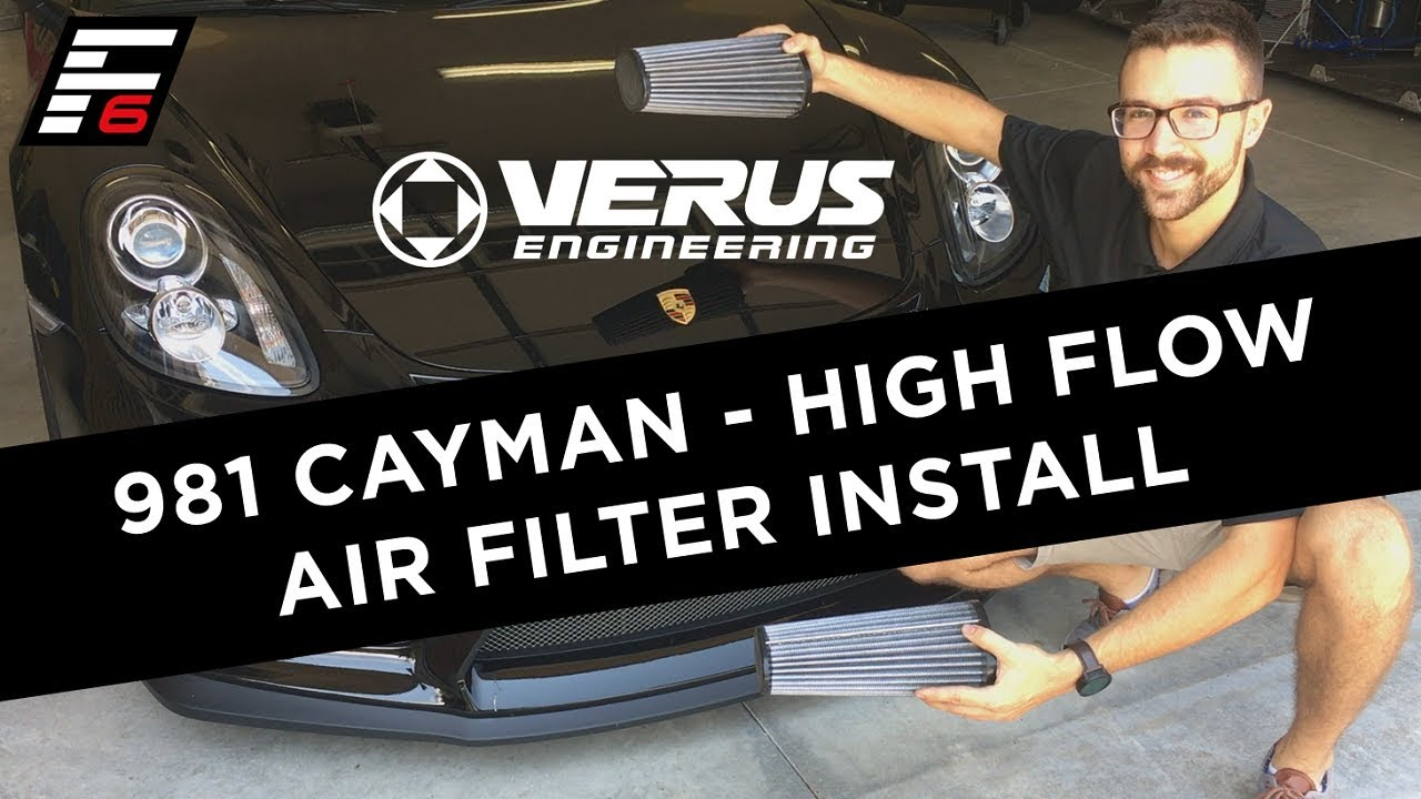 Verus Engineering 981 Cayman Intake Filter Install (Video)