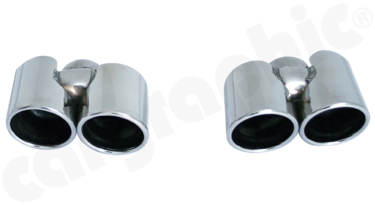 Cargraphic Quad Exhaust Tips (997.2 Carrera)