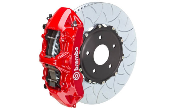 Brembo GT 405x34 2-Piece Slotted 6 Piston Big Front Brake Kit (Macan) - Flat 6 Motorsports - Porsche Aftermarket Specialists