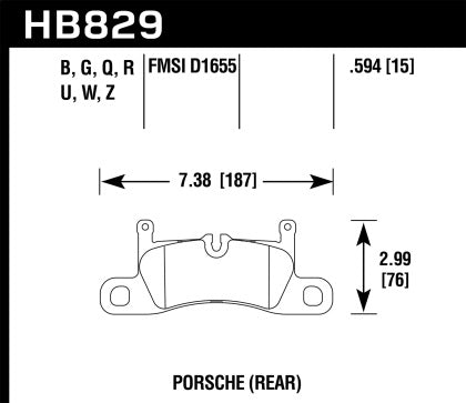 Hawk Street Performance Ceramic Rear Brake Pads (991 Carrera)