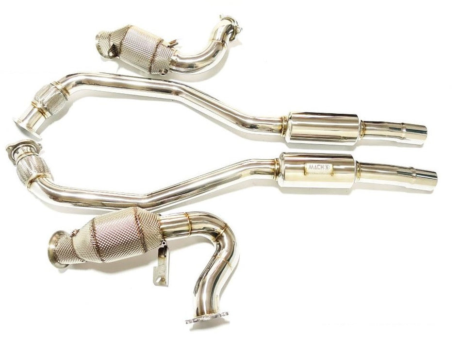 Mach 5 Performance Downpipes (Macan) - Flat 6 Motorsports - Porsche Aftermarket Specialists
