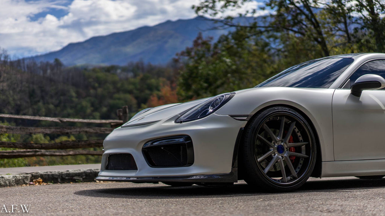 NR Auto - GT4 Front Bumper (981 Cayman / Boxster) - Flat 6 Motorsports - Porsche Aftermarket Specialists