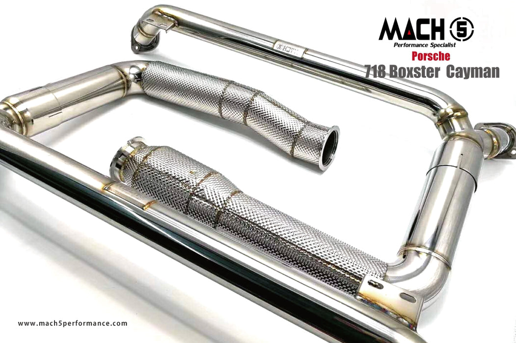 Mach 5 Performance Downpipe (718 Cayman / Boxster)