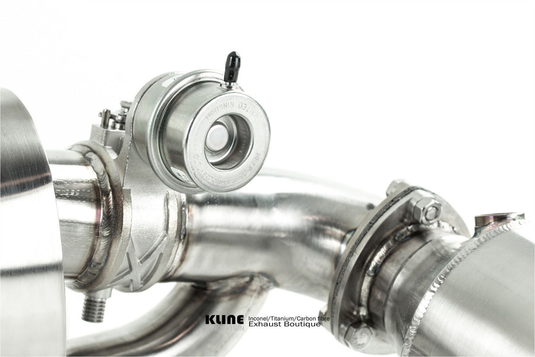 Kline Innovation Turboback Valvetronic Exhaust System in Inconel 625 (991.2 Carrera) - Flat 6 Motorsports - Porsche Aftermarket Specialists