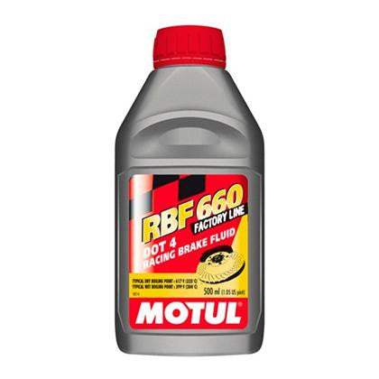 Motul 100% Synthetic RBF 660 - Racing Brake Fluid DOT 4 (0.5L) - Flat 6 Motorsports - Porsche Aftermarket Specialists