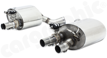 Cargraphic Sport Rear Silencers (971 Panamera Turbo)