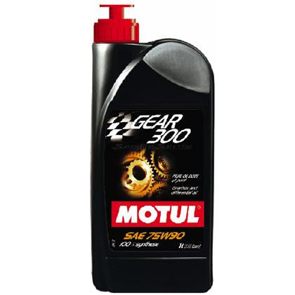 Motul 100% Synthetic Ester GEAR 300 75W90 Transmission / Gear Fluid (1L) -