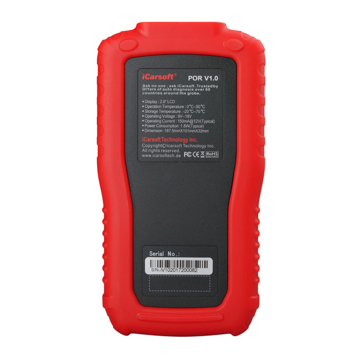 iCarsoft - POR V1.0 Oil Service Reset & Multi System Diagnostic Tool (991 911)
