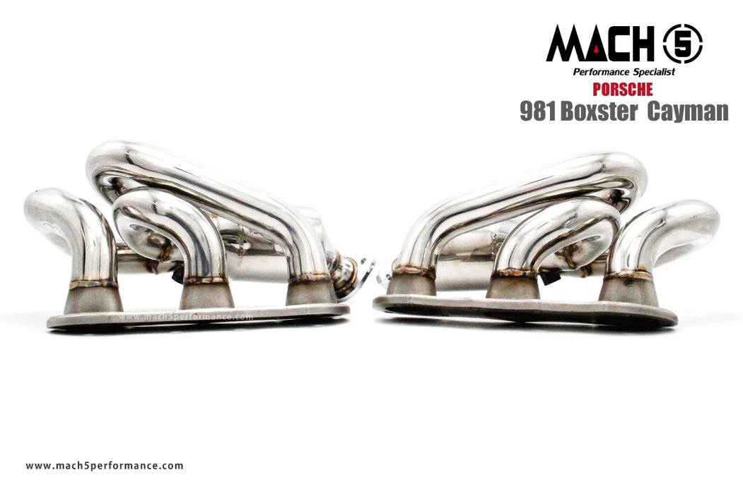 Mach 5 Performance Long Tube Headers (981 Cayman / Boxster)