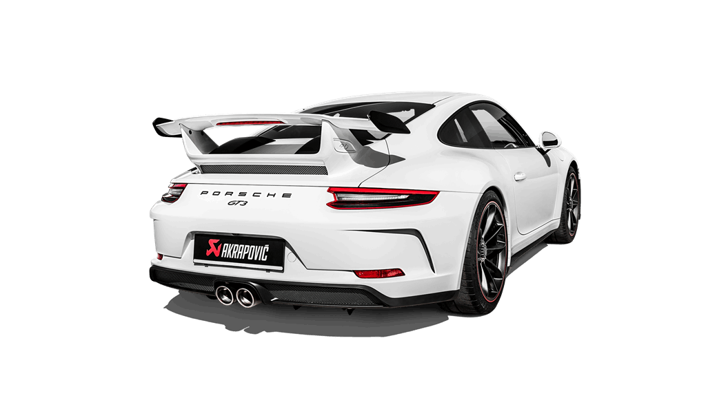 Akrapovic Race Line Center Muffler Delete Slip-On (991 GT3)