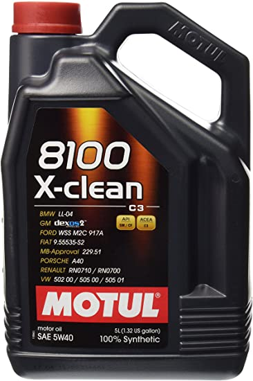 Motul 5W40 X-Clean Synthetic Oil (8100 Series) 5 Liters