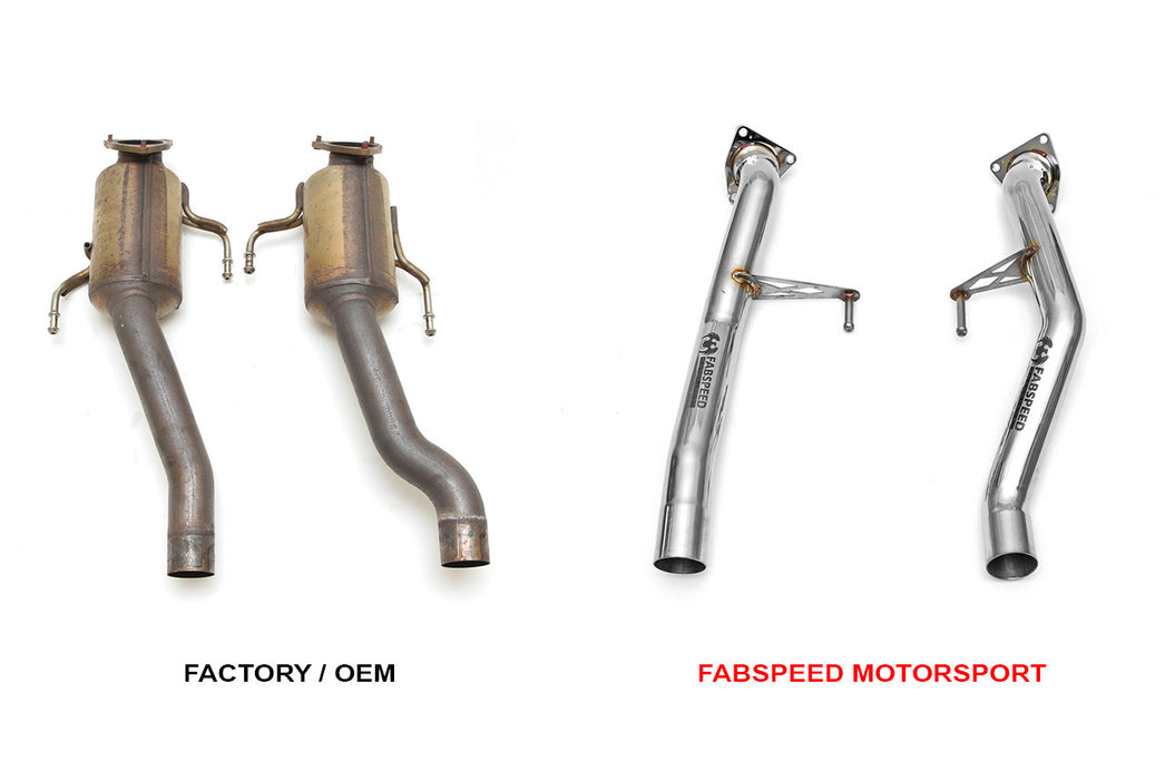 Fabspeed Secondary Catbypass Pipes (Cayenne S / Turbo 955) - Flat 6 Motorsports - Porsche Aftermarket Specialists