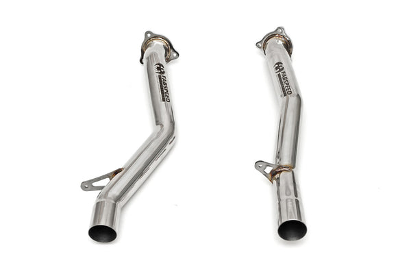 Fabspeed Secondary Catbypass Pipes (Cayenne S / Turbo 958) - Flat 6 Motorsports - Porsche Aftermarket Specialists