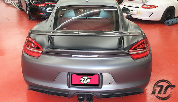 NR Auto - GT4 Rear Wing (981 Cayman / Boxster) - Flat 6 Motorsports - Porsche Aftermarket Specialists