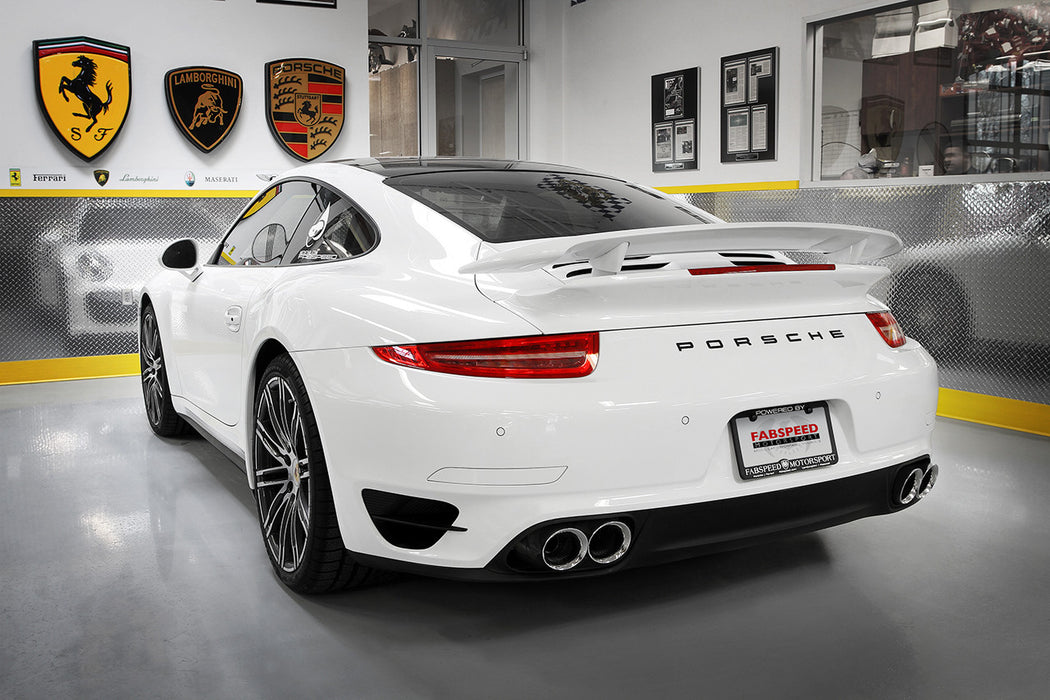 Fabspeed Supersport X-Pipe Exhaust System (991 Turbo) - Flat 6 Motorsports - Porsche Aftermarket Specialists