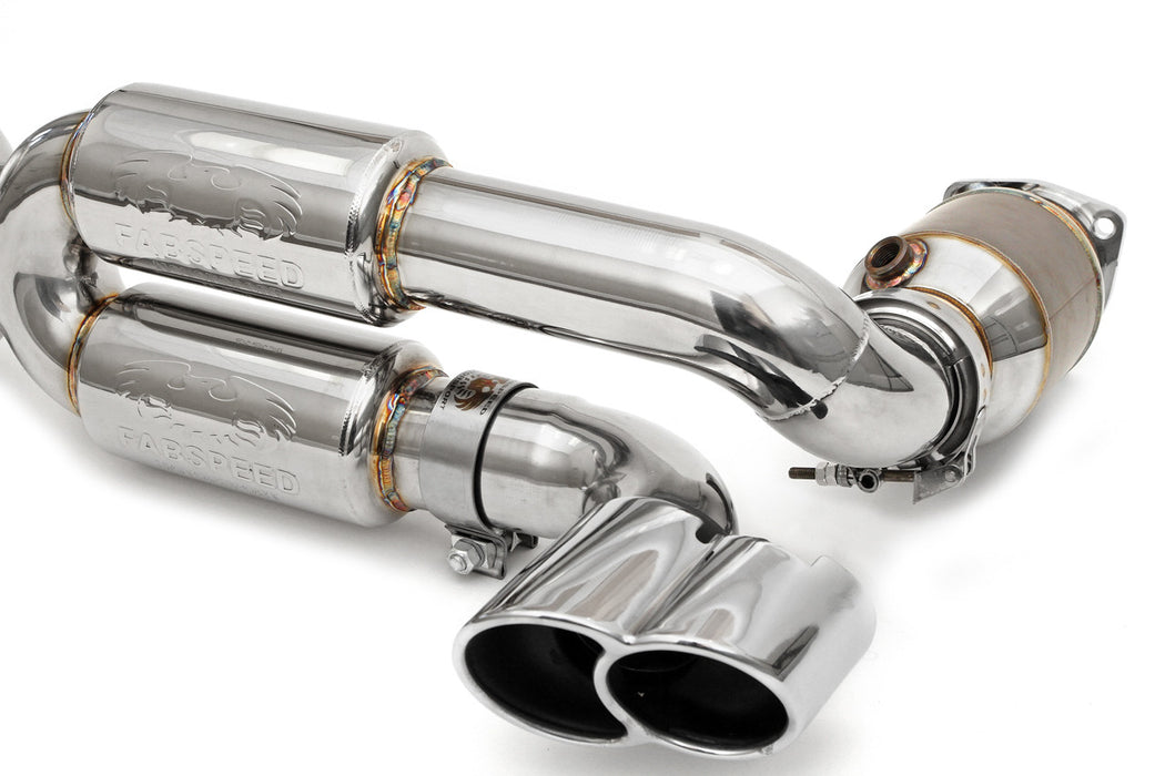 Fabspeed Supersport 70mm X-Pipe Exhaust System (996 Turbo) - Flat 6 Motorsports - Porsche Aftermarket Specialists