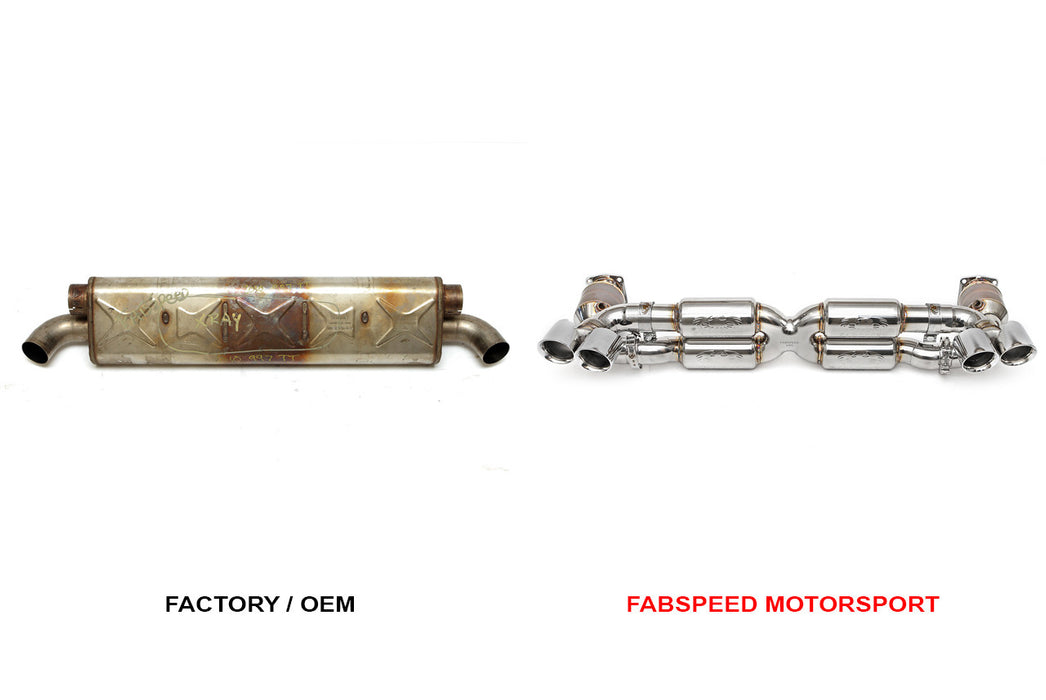 Fabspeed Supersport 70mm X-Pipe Exhaust System (997.2 Turbo) - Flat 6 Motorsports - Porsche Aftermarket Specialists